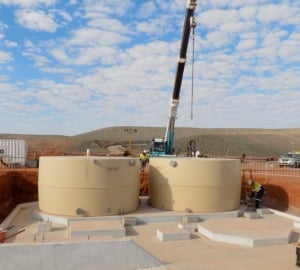 45000L Raw Water Storage Tanks delivered to Laverton