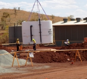 60000L Raw Water Tank delivered on site to Newman